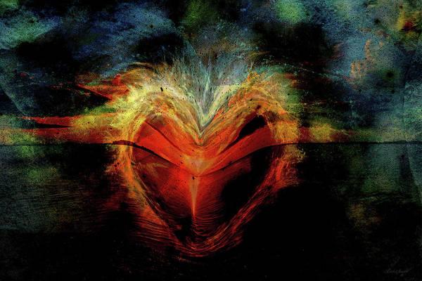 Wall Art - Digital Art - Flamed Heart by Linda Sannuti