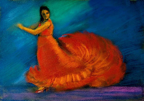 Wall Art - Painting - Flamenco Dance 2 by Asha Sudhaker Shenoy
