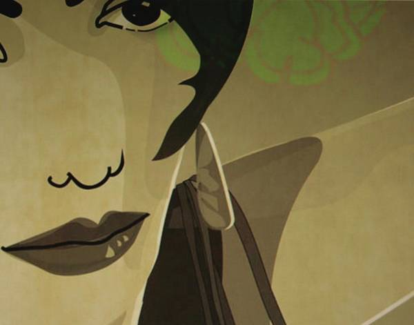 Individuality Digital Art - Flamenco Lady by Susanne Riber Christensen