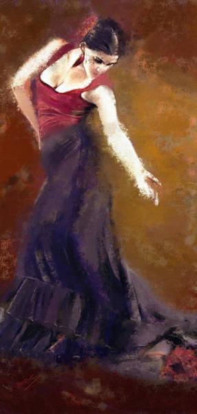 Sultry Digital Art - Flamenco Style by James Shepherd