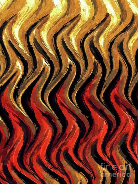 Wall Art - Painting - Flames, Abstract Art By Tito by Tito