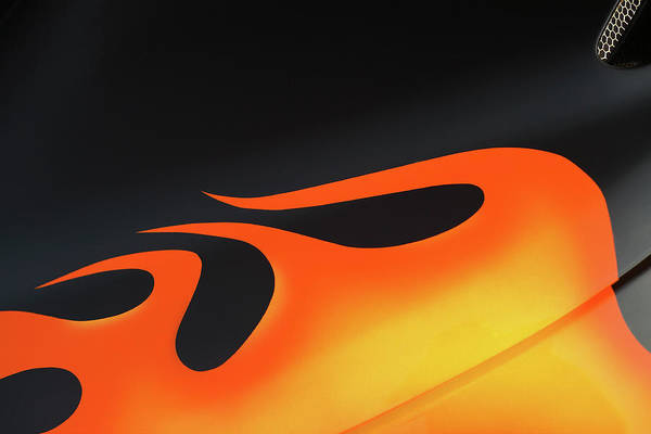 Photograph - Flames On Black by Todd Klassy