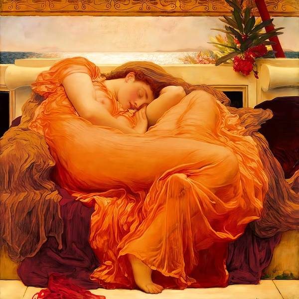 Wall Art - Digital Art - Flaming June by Lord Frederick Leighton