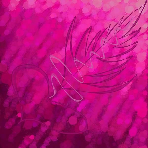Wall Art - Digital Art - Pink Arrow Of Love by Carlo Fuentes