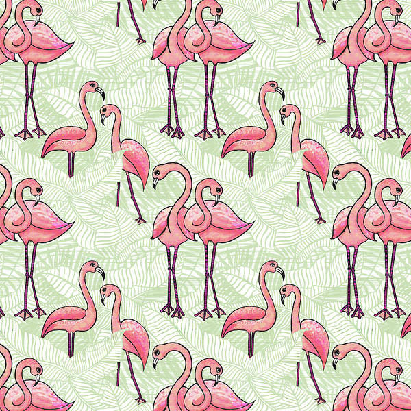 Painting - Flamingo Pattern by Jen Montgomery