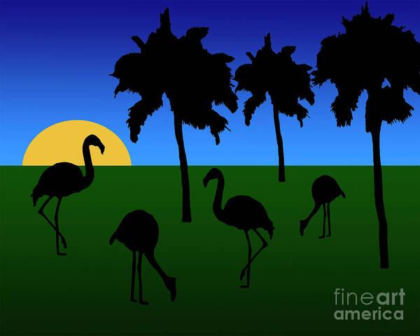 Digital Art - Flamingo Sunrise by Kirt Tisdale