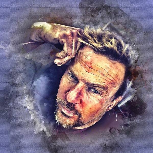 Photograph - Flanery Watercolor by Flanery Art Designs