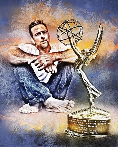 Photograph - Flanery Won Emmy by Flanery Art Designs