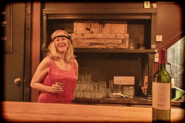 Photograph - Flapper Girl Behind Bar by Dan Friend