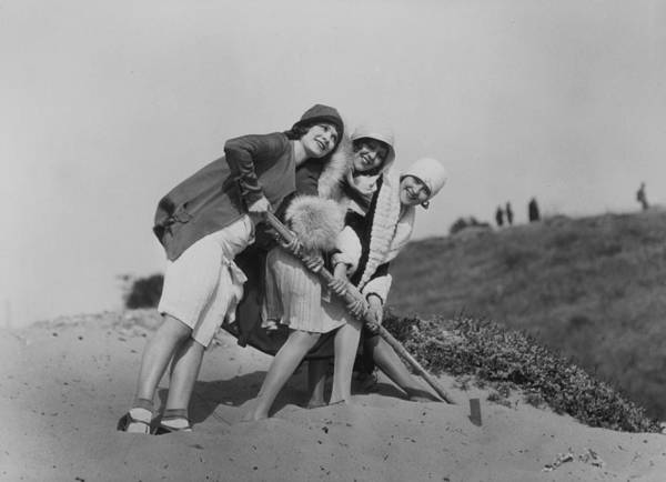 Flapper Photograph - Flappers On The Beach by Sasha