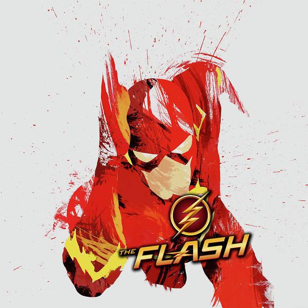 Robin Digital Art - Flash 3 by Geek N Rock