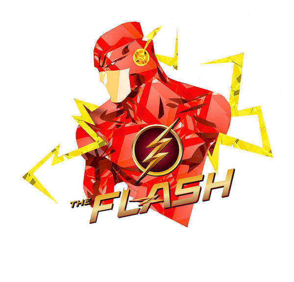 Robin Digital Art - Flash 4 by Geek N Rock