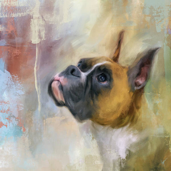 Painting - Flashy Fawn Boxer by Jai Johnson