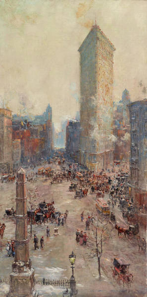 Catalog Wall Art - Painting - Flat Iron Building by Colin Campbell Cooper