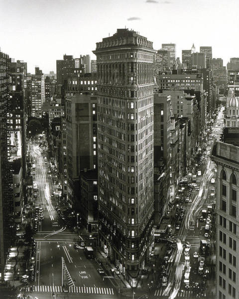 Flatirons Photograph - Flat Iron Building,  New York City by Henri Silberman