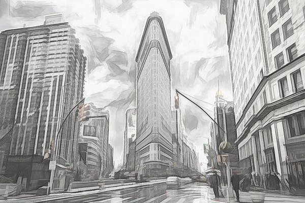 Digital Art - Flatiron Sketch by Alison Frank
