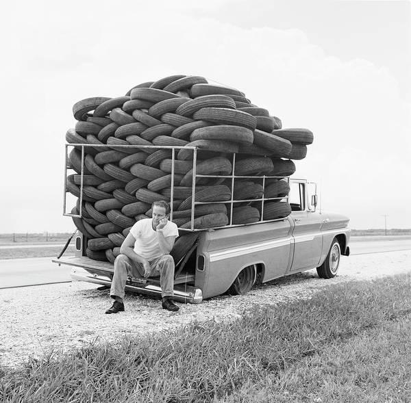 Photograph - Flat Tire by Michael Ochs Archives