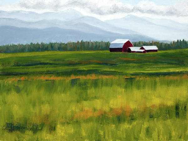 Wall Art - Painting - Flathead Valley by Mary Giacomini