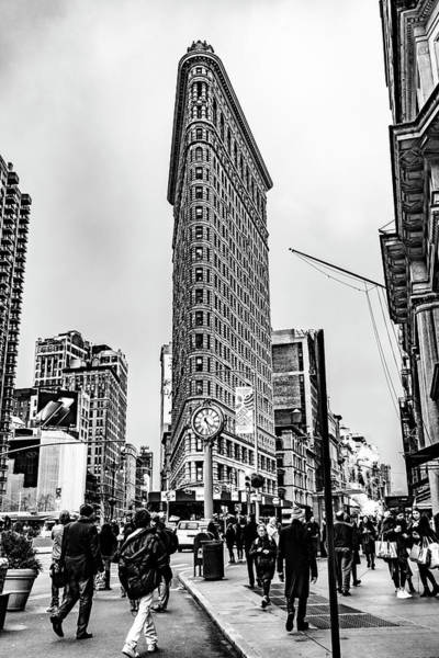 Photograph - Flatiron Black And White by Sharon Popek
