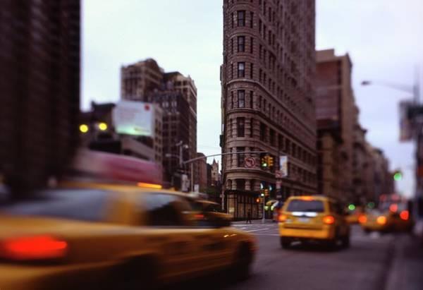 Rush Hour Photograph - Flatiron Building At Rush Hour by Andrew C Mace