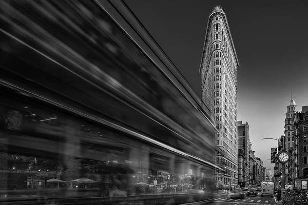 Photograph - Flatiron Building Fifth Ave Nyc Bw by Susan Candelario