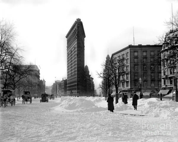 The Empire Photograph - Flatiron In The Snow by Jon Neidert