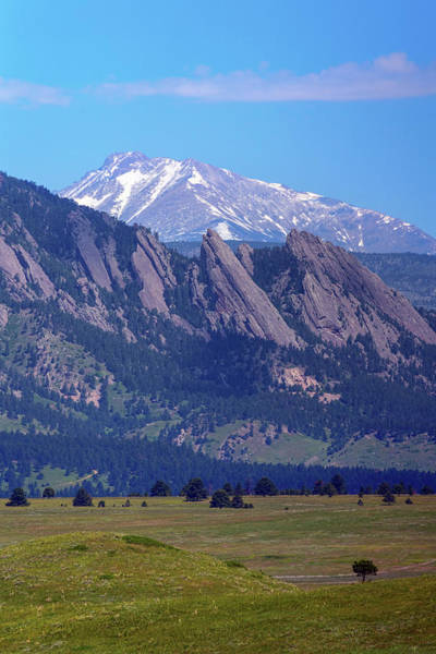 Photograph - Flatirons Pointing To Longs Peak by James BO Insogna