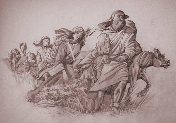 Wall Art - Drawing - Flee To Moab by James Robinson