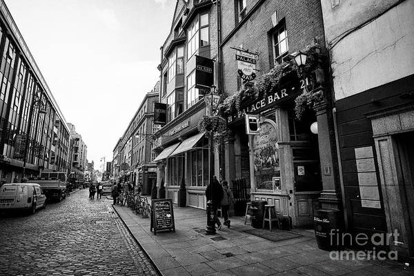 Wall Art - Photograph - Fleet Street In Temple Bar Dublin Republic Of Ireland Europe by Joe Fox