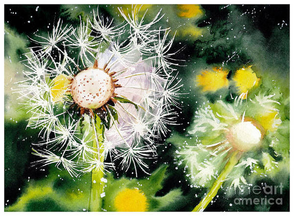 Field Of Flowers Wall Art - Painting - Fleeting Moment by Suzann's Art