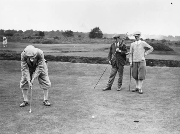 Ball Photograph - Fleetway Golfers by Davis