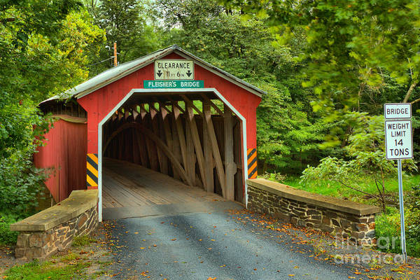 Photograph - Fleisher Covered Bridge by Adam Jewell