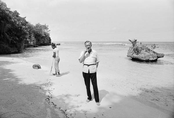 Jamaica Photograph - Fleming In Jamaica by Harry Benson