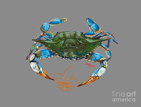 Painting - Fleur De Lis Crab by Dianne Parks