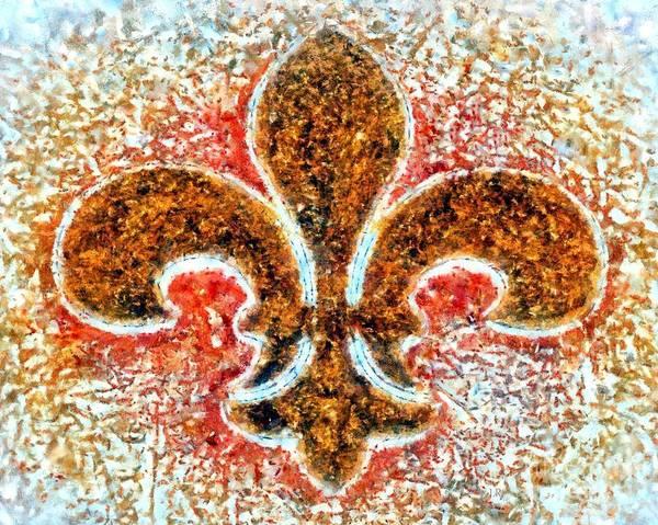 Fleur De Lis Photograph - Fleur De Lis Gold Dust by Janine Riley