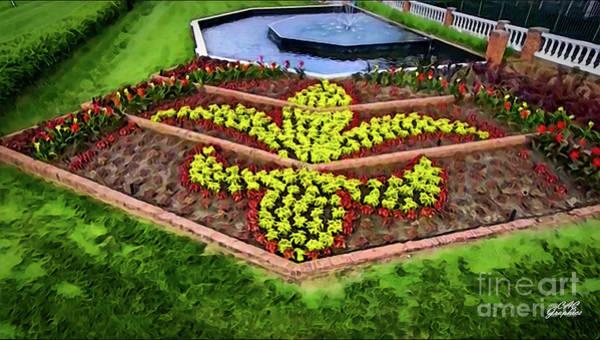 Digital Art - Fleur De Lis Kentucky Derby Flowers by CAC Graphics