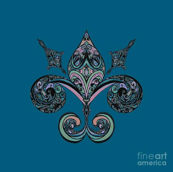 Mixed Media - Fleur-de-lis by Mastiff Studios