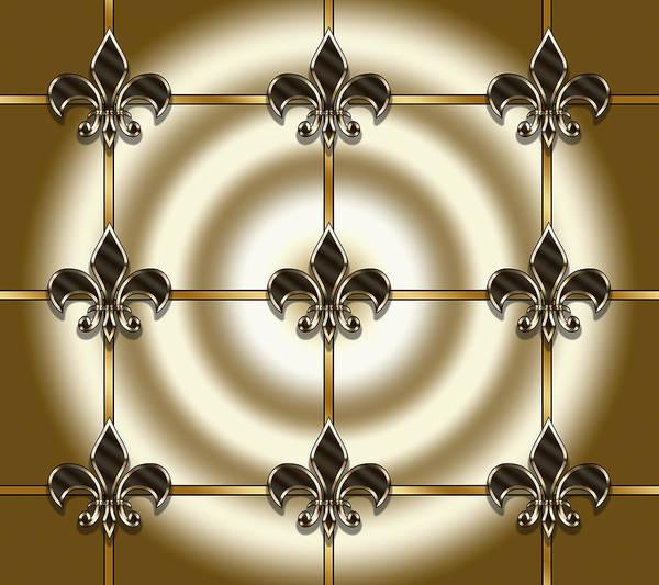 Digital Art - Fleur-de-lis Tiled by Chuck Staley