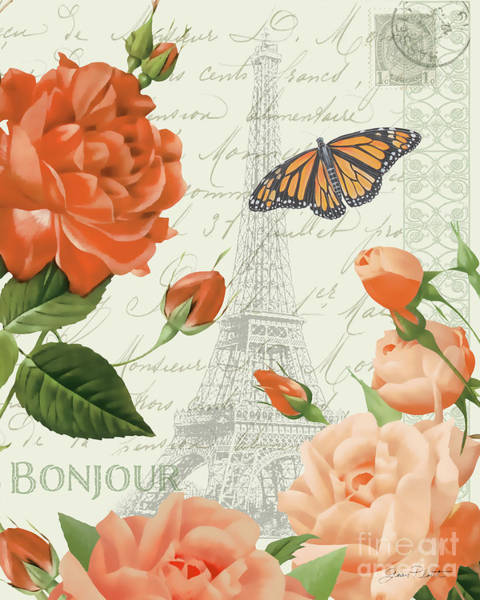 Wall Art - Painting - Fleurs Francaises B by Jean Plout