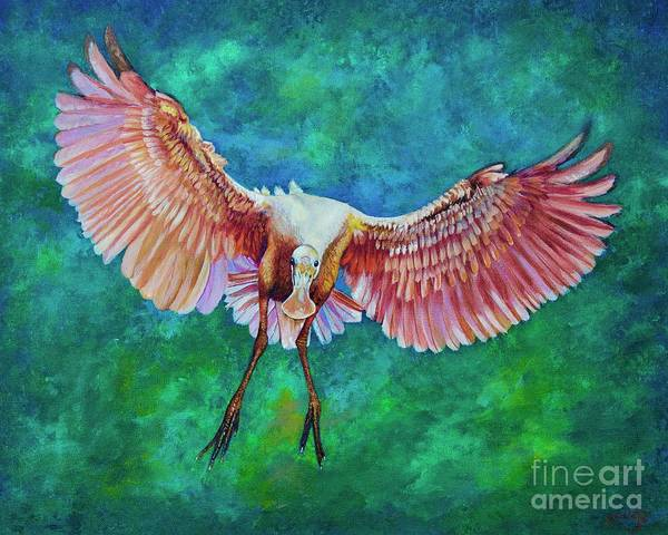 Painting - Fledgling Flight by AnnaJo Vahle