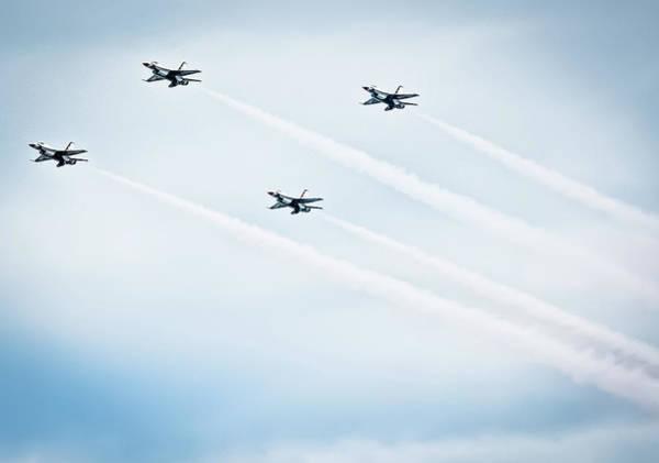 Elmendorf Photograph -  F16s Flight Of Four by Bob Lynn