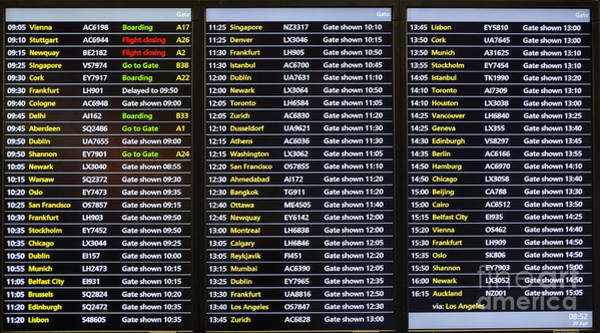 Photograph - Flight Schedule by Les Palenik