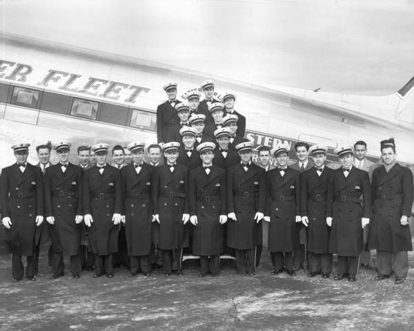 Stationary Photograph - Flight Stewards by Archive Photos