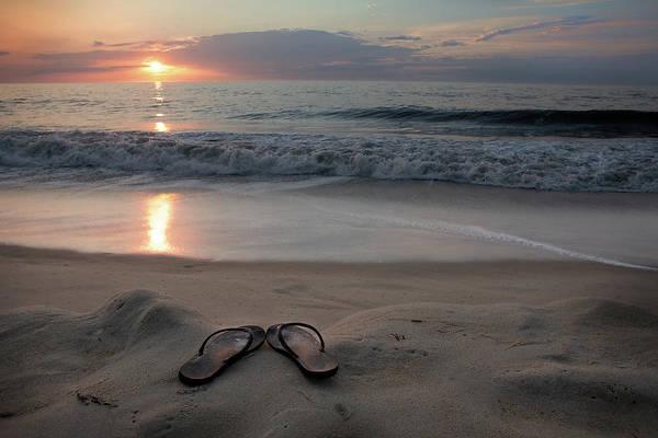 Flip Flops Photograph - Flip-flops On The Beach by Sdominick
