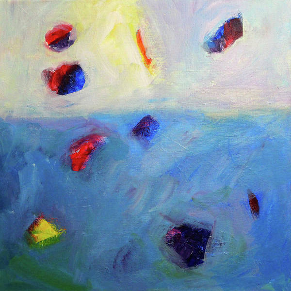 Wall Art - Painting - Floating -- Abstract Painting by Nancy Merkle