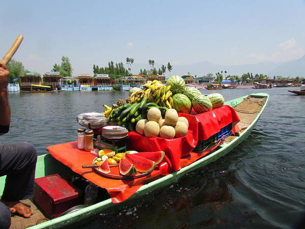 Dal Lake Photograph - Floating Bazaar by Subratapaul