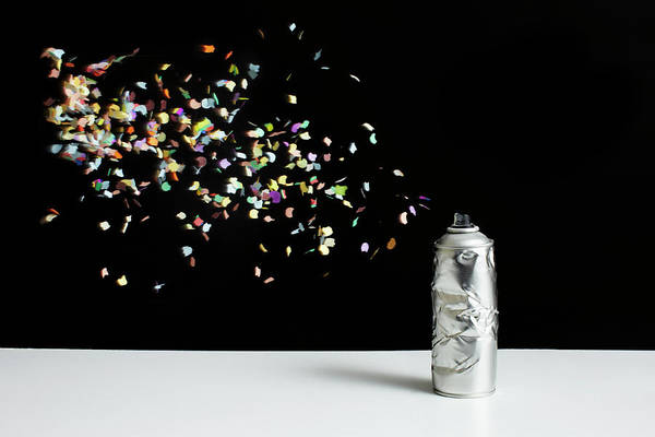 Damaged Photograph - Floating Confetti And A Damaged Spray by Benne Ochs