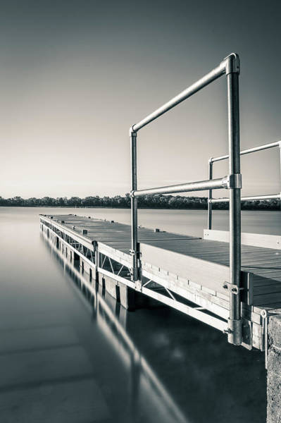 Wall Art - Photograph - Floating Fishing Dock On Lima Lake by Dan Sproul
