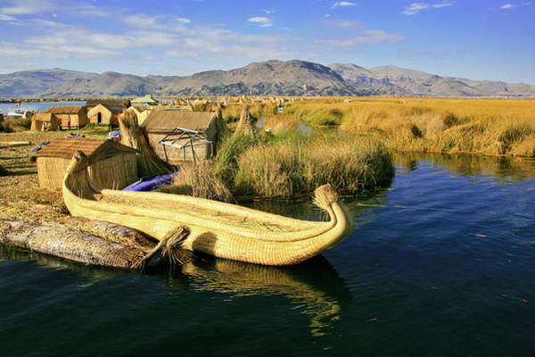 Puno Photograph - Floating Island by Andras Jancsik