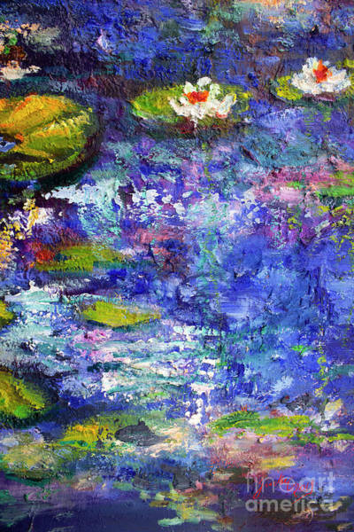 Painting - Floating Lilies Oil Painting by Ginette Callaway